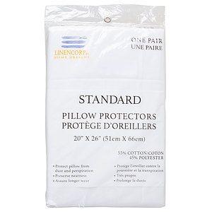 Protège-oreillers,, standard, paq. de 2