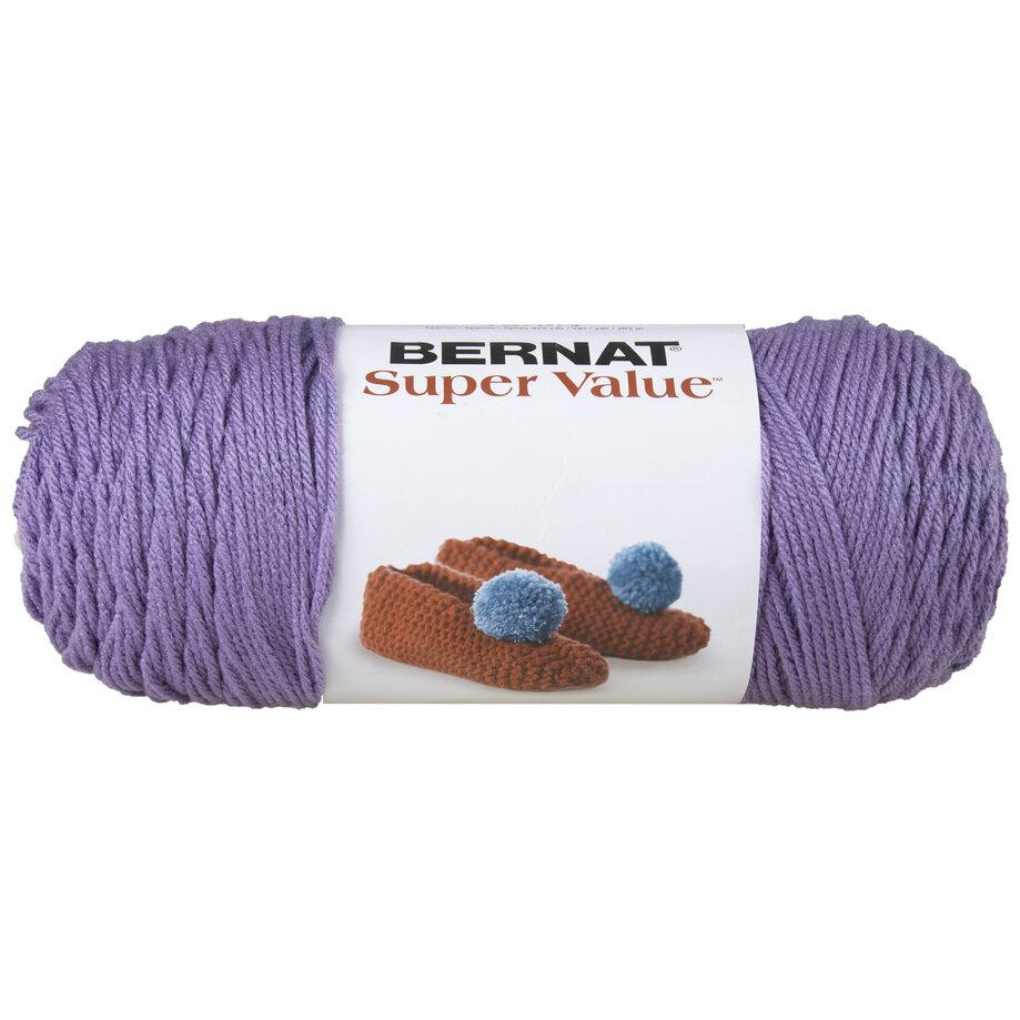 Bernat Super Value - Acrylic yarn, lavender