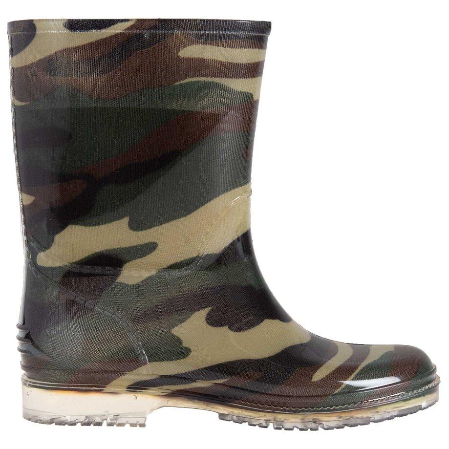 Boys' rubber rain boots, size 3