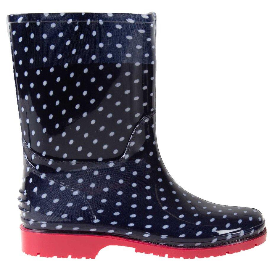Girl's rubber rain boots, size 3