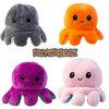 Happy/sad reversible octopus plush toy, 1 piece