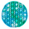 Silicone bubble popper fidget toy, round tie-dye, 1 piece - 2