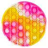 Silicone bubble popper fidget toy, round tie-dye, 1 piece - 4