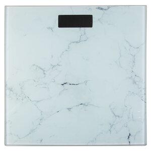 Pèse personne numérique, aspect marbre blanc