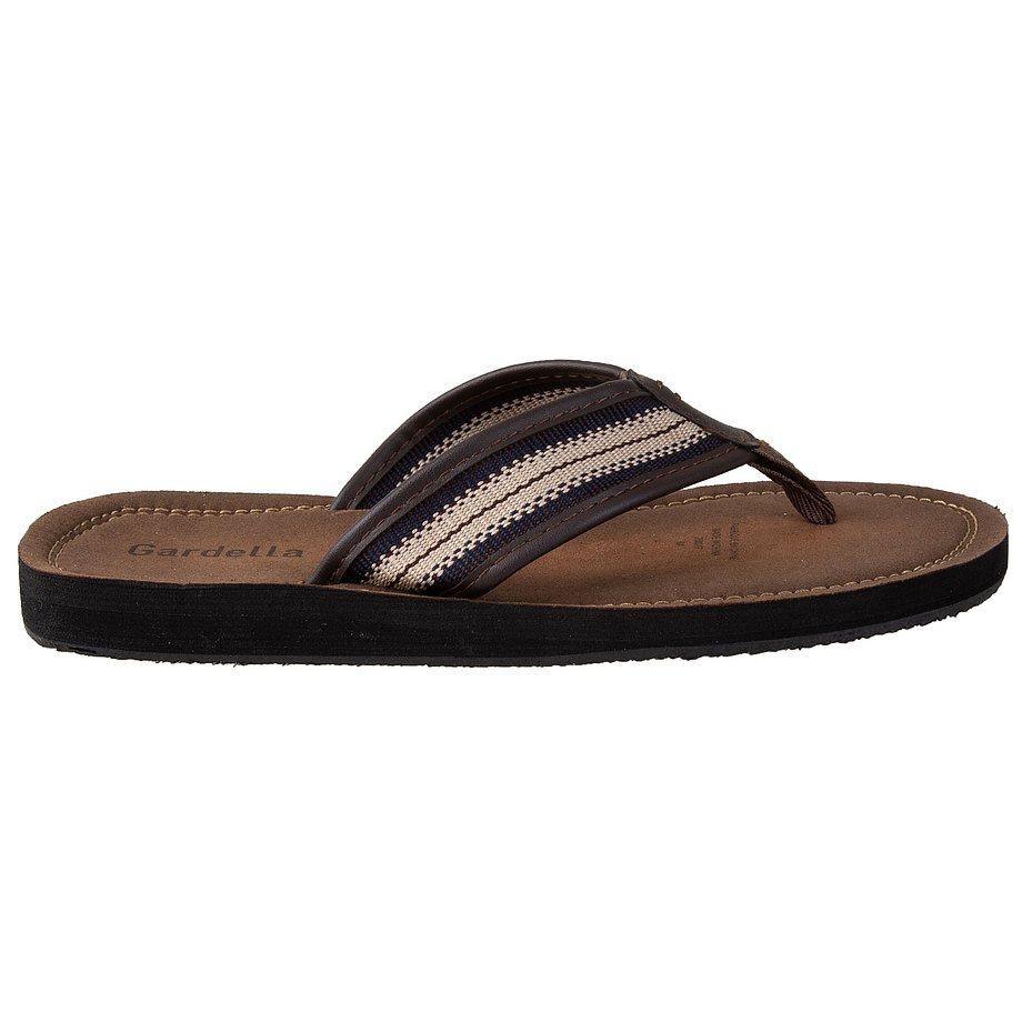 Gardella - Men's relaxed fit flip flop sandals, brown, size 12