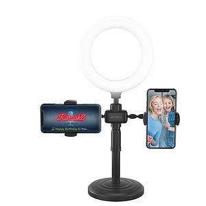 Tech Bits Bytech - Kit de vlog universel avec 2 supports de téléphone et éclairage de selfie en anneau