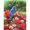 KI - Puzzle, Flights of Fancy, Greg Giordano: Summer bluebirds and geranimuns, 550 pcs - 2
