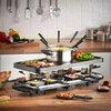 Ens. raclette et fondue avec 6 fourchettes à fondue et 12 poêlons à raclette - 2
