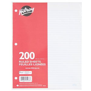 Hilroy - 200 ruled sheets