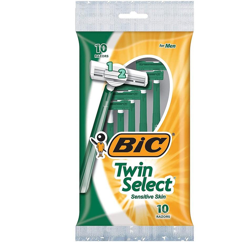 BIC - Rasoirs Twin Select pour peau sensible, paq. de 10
