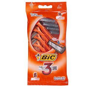 BIC - Triple blades razors for sensitive skin, pk. of 8