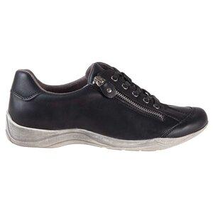 Chaussures de sport à lacets pour femmes à bout rond avec fermeture éclair et semelle en détresse
