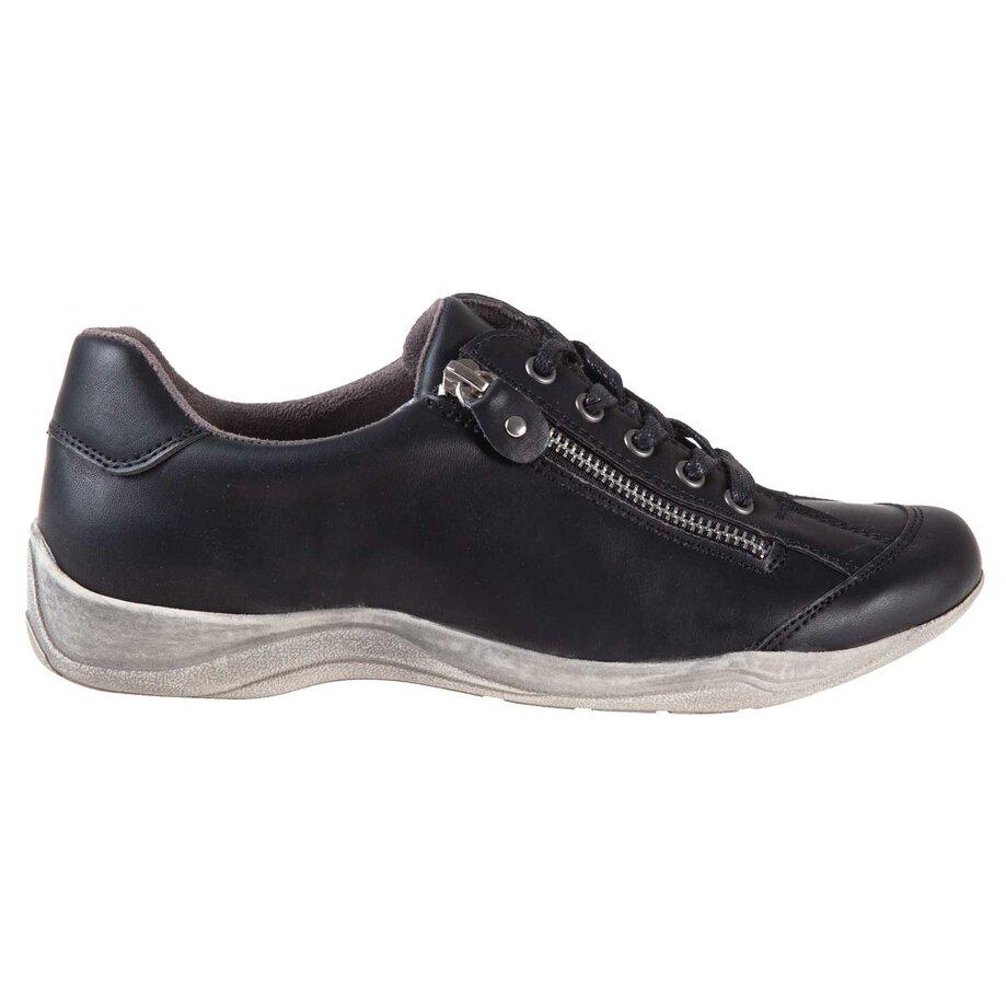 Chaussures de sport à lacets pour femmes à bout rond avec fermeture éclair et semelle en détresse, taille 9
