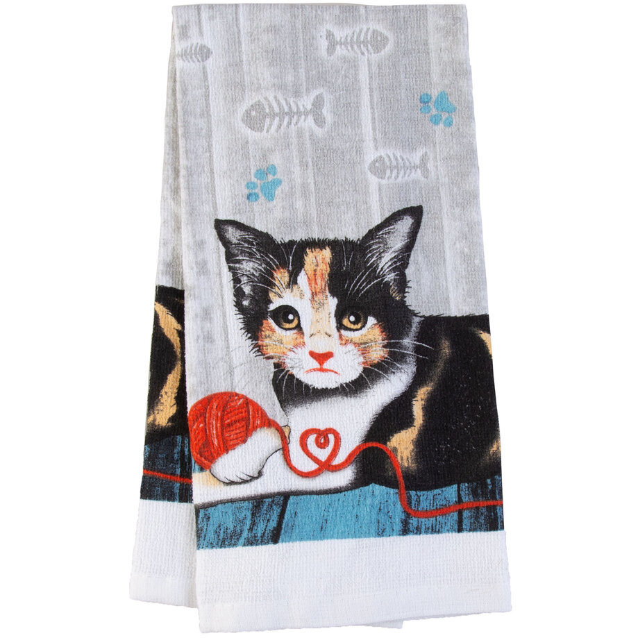 Cotton Concepts - Purrfect Collection, dish towel