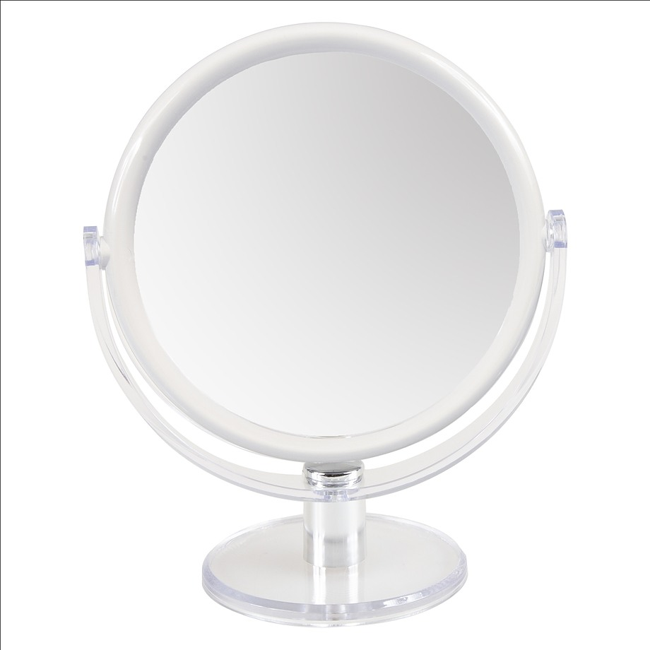 Double sided makeup mirror 1x and 10x