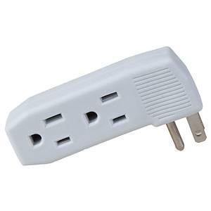 elink - Grounded multi wall tap, 3 outlets
