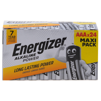 Energizer - Alkaline Power, AAA batteries, family pack of 24