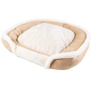 Faux suède, lit carré en mousse à mémoire de forme, moyen