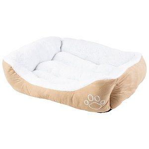 Faux suède, lit rectangulaire pour animaux, moyen