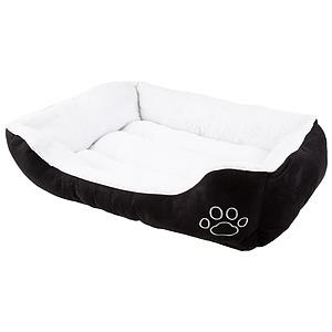 Faux suede, rectangular pet bed, medium