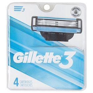 Gillette 3 - Lames de rasoir, paq. de 4