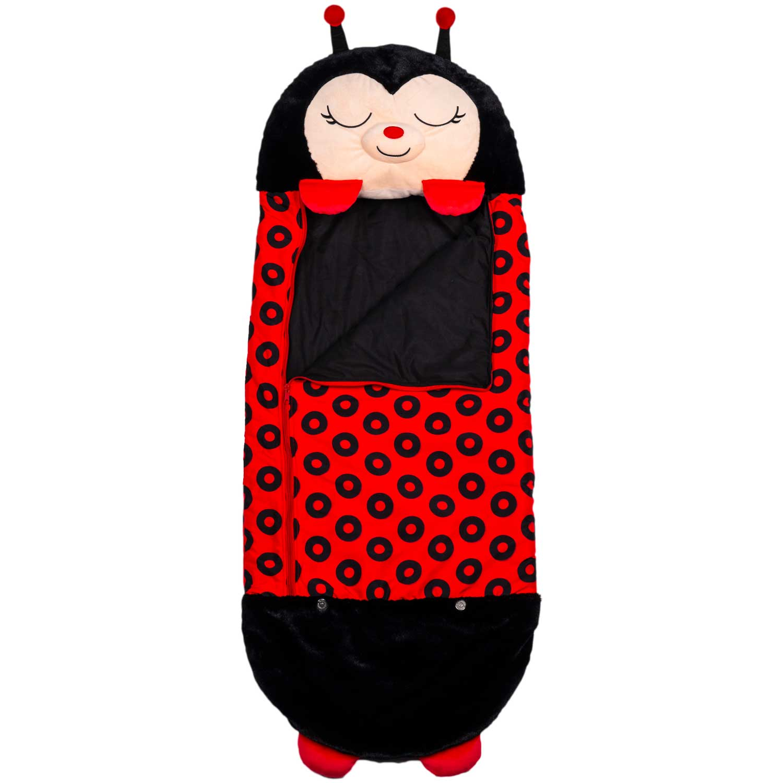 Happy Nappers - Play pillow & sleepy sack, Lilly Ladybug