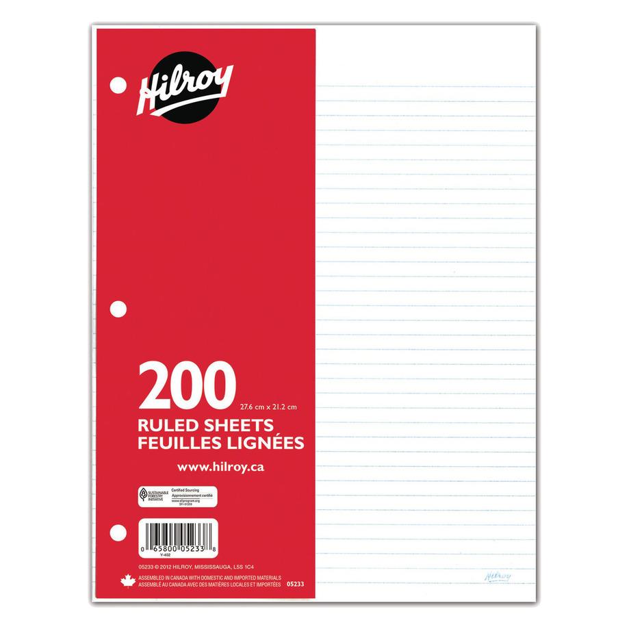 Hilroy - 200 feuilles lignées