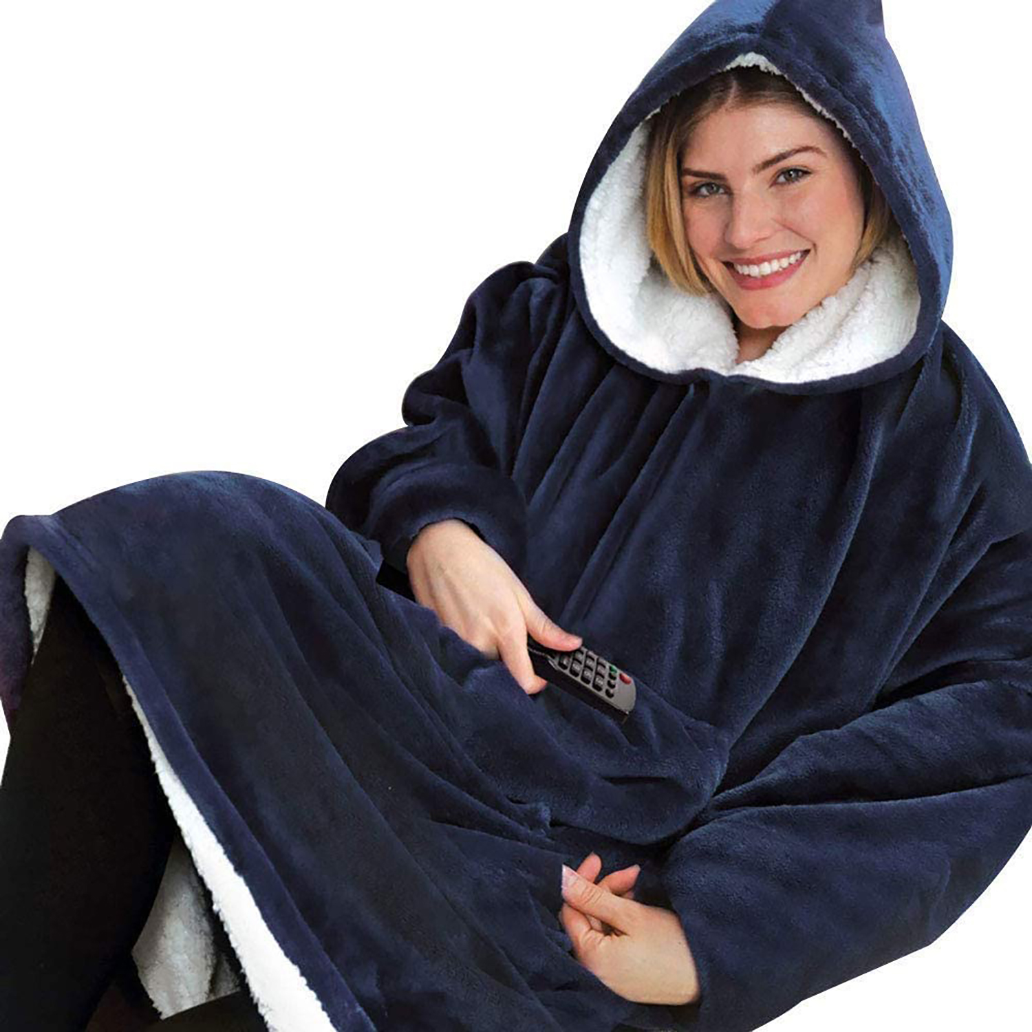 Huggle Hoodie - Couverture à capuche ultra moelleuse