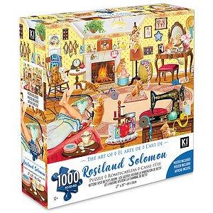 KI - Puzzle, Rosalind Solomon, Les chatons visitent la chambre de Betsy, 1000 pcs
