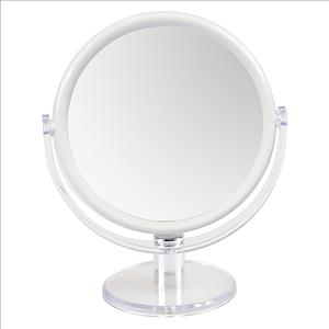 Miroir de maquillage double face 1X et 10X