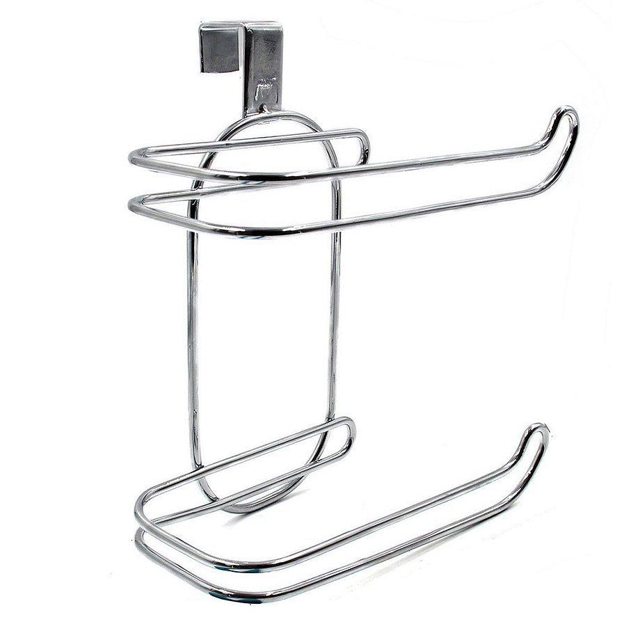 Over-the-tank toilet paper holder in chrome