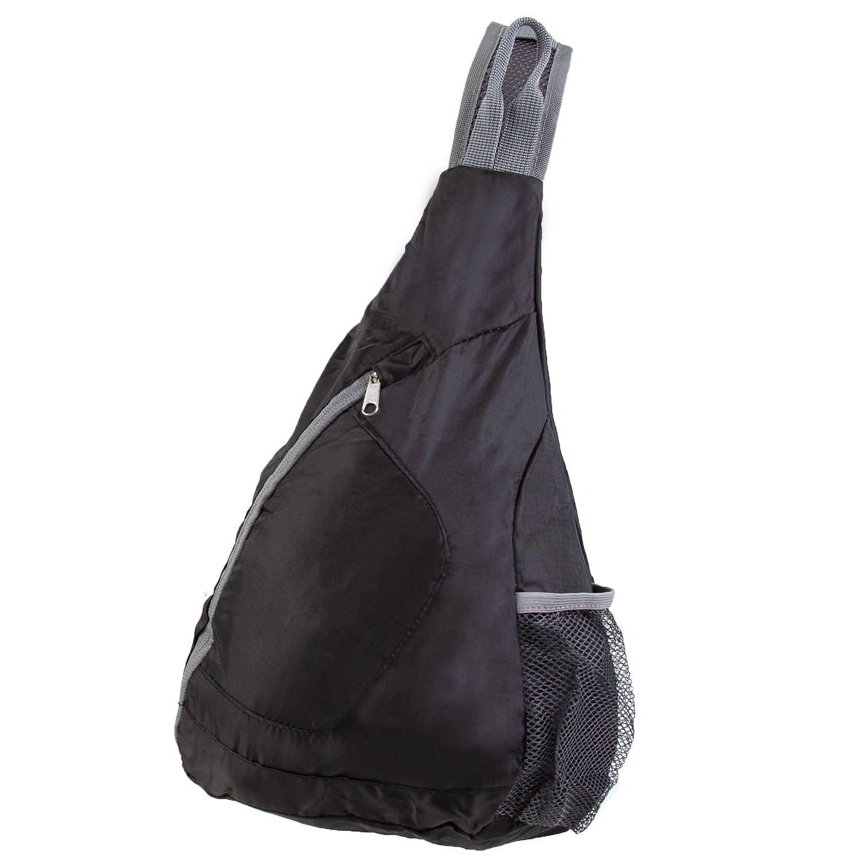 Packable crossbody bag, black