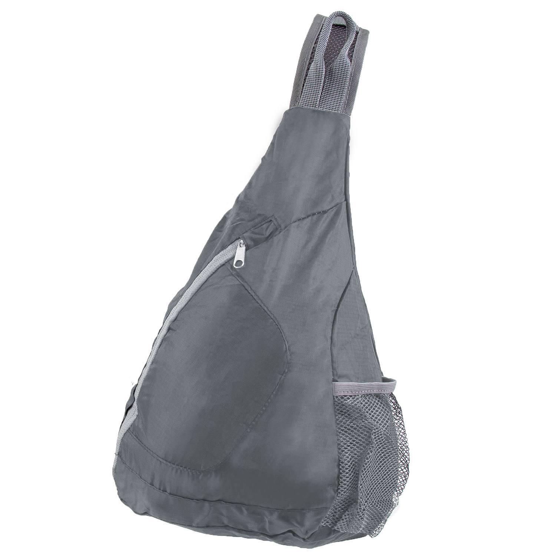 Packable crossbody bag, charcoal