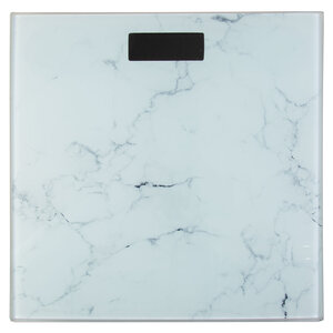 Personal digital scale, white marble look