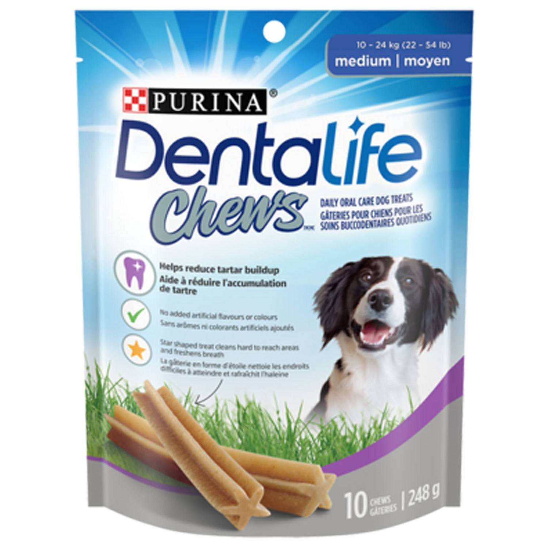 Purina - Dentalife Chews gâteries pour chiens pour les soins buccodentaires quotidiens
