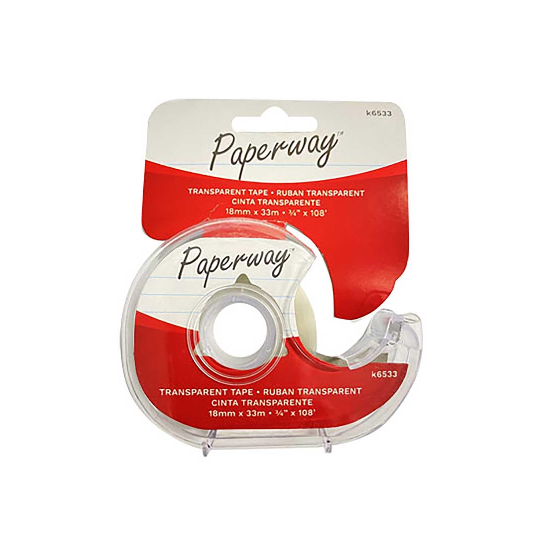 """Ruban transparent, 3/4""""x108'"""