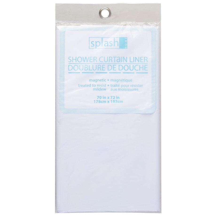 Splash Home - Dhower curtain liner, white