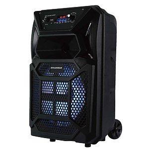 """Sylvania - Haut-parleur bluetooth, lumières DEL à changement de couleur, haut-parleur 8"""""""