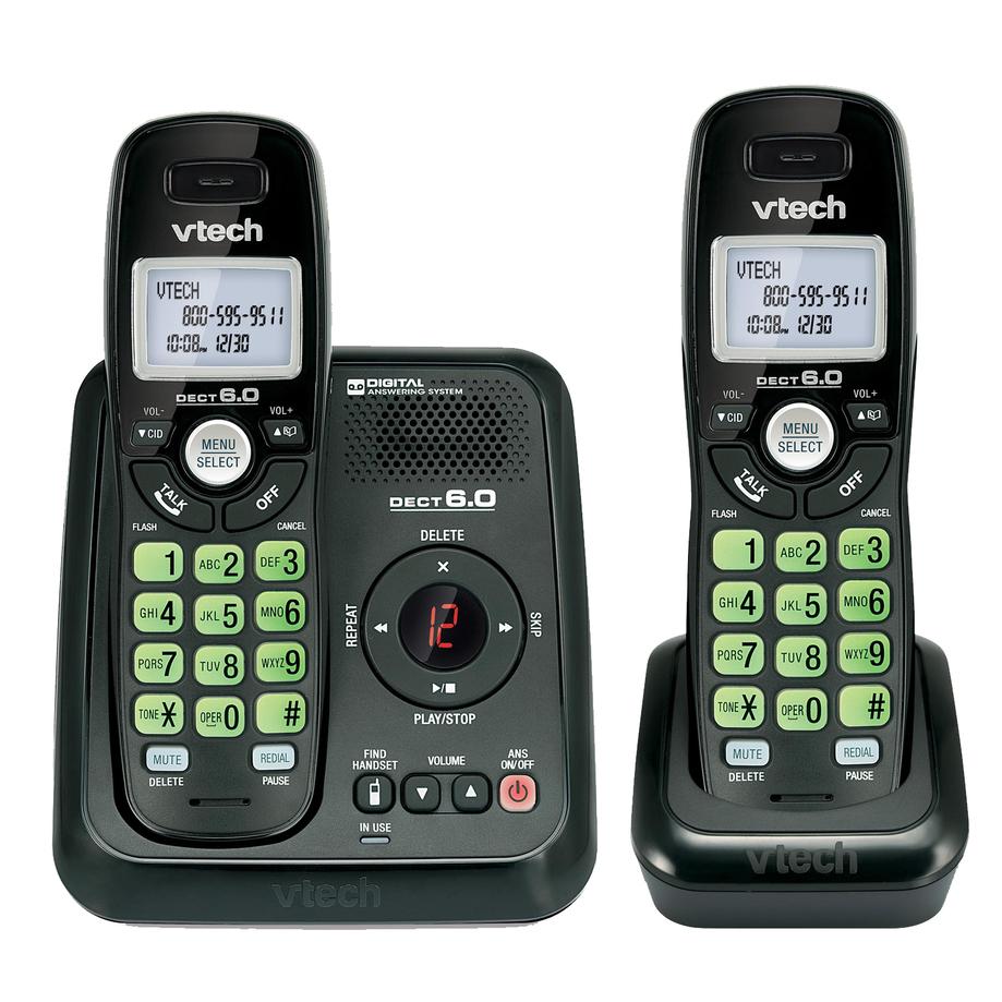 Vtech - Téléphones sans fil à 2 combinés avec répondeur numérique et afficheur/afficheur de l'appel en attente