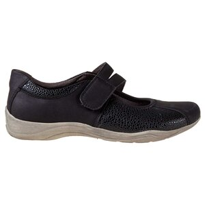 Women's round toe slip-on sports shoes with velcro closure
