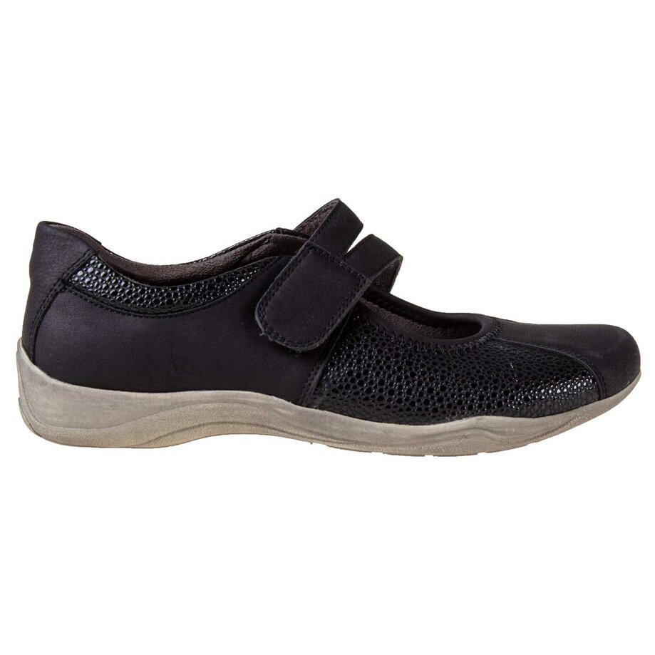 Women's round toe slip-on sports shoes with velcro closure, size 6